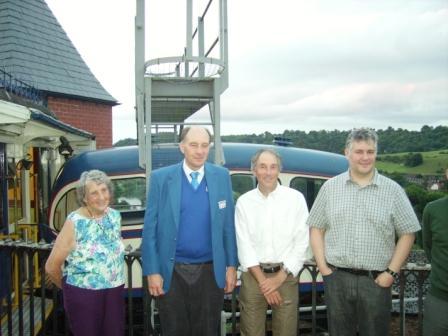 Railway engineering academics visit cliff railway