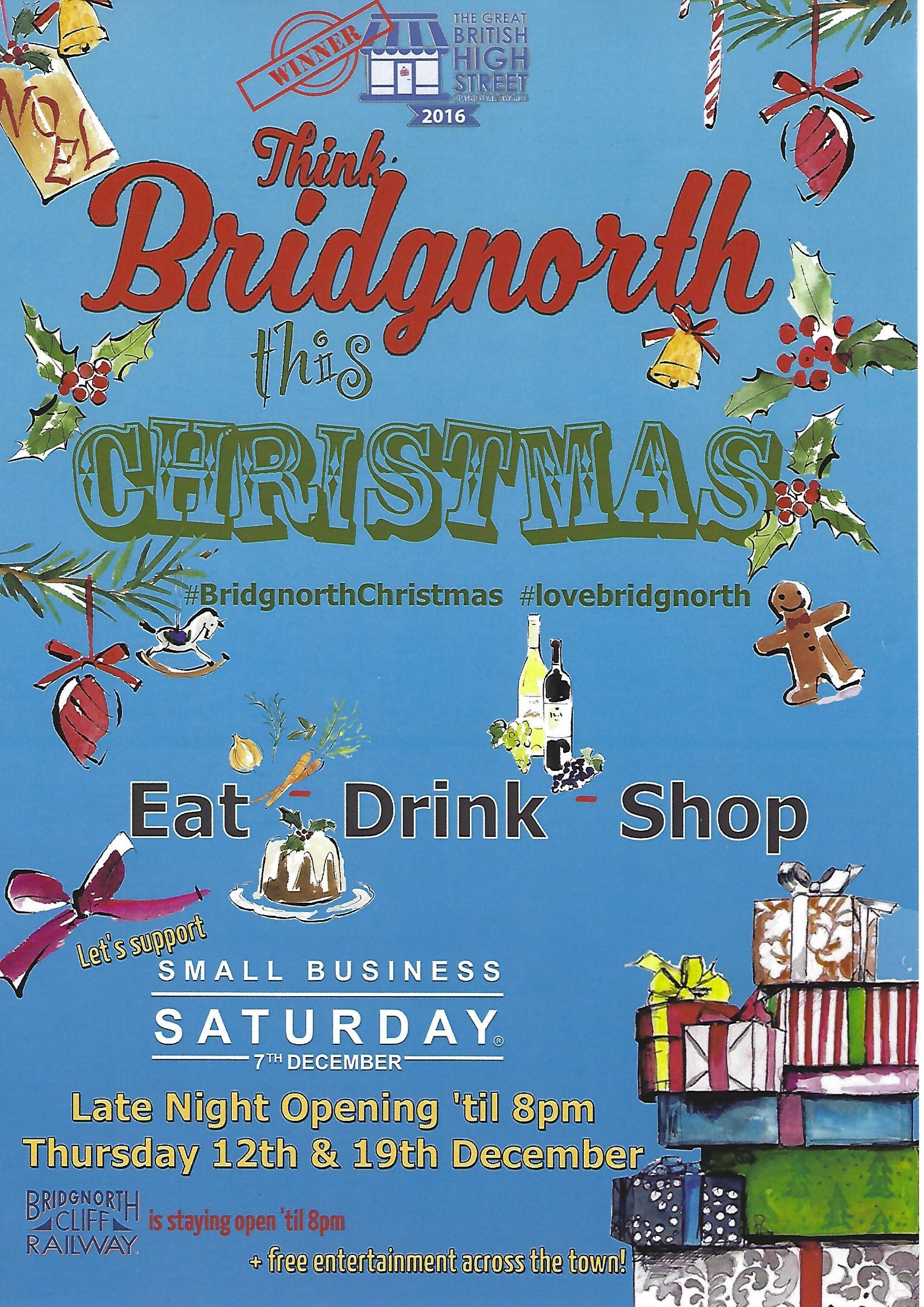 Bridgnorth Christmas Thursday Late Night Shopping